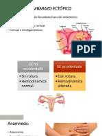 Embarazo Ectopico y Molar