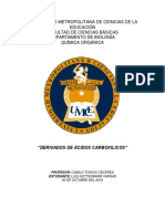 """""""DERIVADOS DE ÁCIDOS CARBOXILICOS"""""""