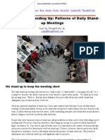 It's Not Just Standing Up - Patterns of Daily Standup Meetings