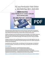 [BERKUALITAS] Jasa Pembuatan Toko Online Banjarnegara, WA/SMS/Telp 0811-2829-003