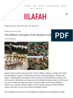 The Military Strength of the Muslim World