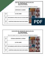 Elección Del Municipio Escolar 2018