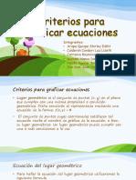 Criterios Para Graficar Ecuaciones