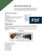 Overnight Sensations Speaker Kit Manual