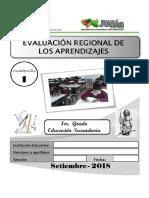 Examen Regional De Matematica ECE 2018
