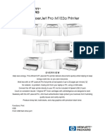 Brosur HP LaserJet Pro M102a Printer