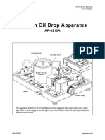 Millikan Oil Drop Manual (AP-8210A)