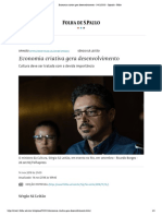 Economia criativa gera desenvolvimento - 14_11_2018 -