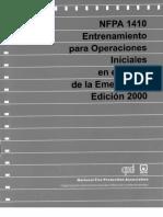 NFPA 1600 Norma Sobre Manejo de Desastres, Emergencias y Programas Para La Continuidad de Los Neg