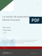 La Nocion de Experiencia en Michel Foucault