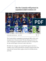 Projecting Who the Canucks Will Protect in the Seattle Expansion Draft (Version 1.0)