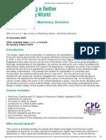 Machinery Series - Machinery Directive - HSL