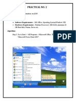 I F Prac. No. 2 Presentation on JCDV