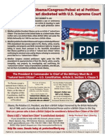 Kerchner v Obama Petition for Writ of Cert Docketed with Supreme Court-18Oct10 issue Wash Times Wkly