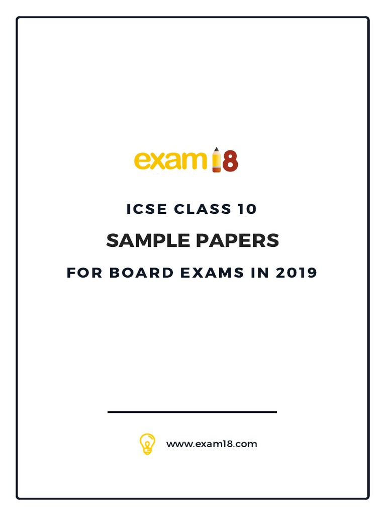 Exam18 ICSE Mathematics Sample Paper | Speed | Area