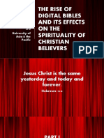 The Rise of Digital Bibles and Its Effects on Christian Believers (Revised Presentation)