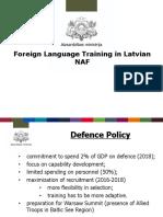 Foreign Language Training in Latvia