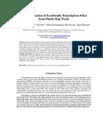 Characterization of Ecofriendly Polyethylene Fiber