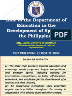 Role of Deped Development of Philippine Sports