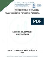 Informe Tecnico de Pruebas Iniciales Del