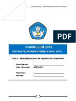 1 RPP Kls 3 Tema 1 Perkembangbiakan Hewan dan Tumbuhan.doc