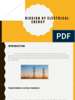 transmissiom of electrical energy