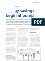 Energy Savings Begin at Pump
