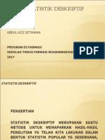 4. Statistik Deskriptif (Kuliah4)