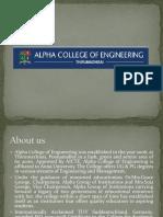 Alpha College of Engineering - Department in College
