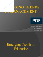 Emerging Trends in Education