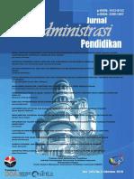Cover Jurnal Administrasi Pendidikan Vol 25 No 2 Oktober