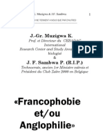 Livre Francophobie _iere Edition