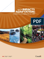 From Impacts to Adaptation CANADA Climate Change 2007