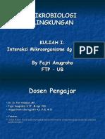 Kuliah I Mikrobiologi Lingkungan1 2012