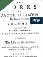 Jacob Böhme Vol 1 - I - Aurora