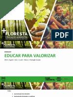 Apresentação Pedagógica sobre Consumo Responsável de Produtos Florestais