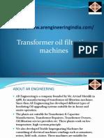 Transformer Oil Filtration Plant|Transformer Oil Filtration System|Two Stage Transformer Oil Filtration Plant| Double Stage Oil Transformer Machine - AR Engineering