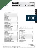 Roland CAMMJET CJ 500 400 Service Notes Manual [Sm,Pm,CD] 200507 7 Qmanual.com