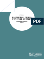 BA Hons Production Design for Stage Screen Programme Handbook 2015 2016