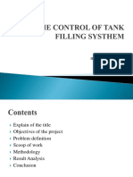 control of tank filling system
