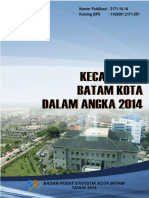 Kecamatan Batam Kota Dalam Angka 2014