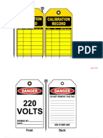 Operational and Maintenance Tags