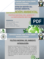 Grupo 1 Politica Ambiental-exposicion Posgrado Undac - Pasco