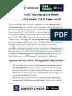 2 Months SSC Stenographer Study Schedule for Grade C & D Exam 2018