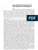 Amartiologia e Differenza Sessuale in Kierkegaard
