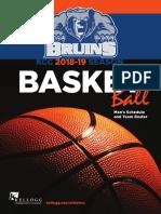 2018-19 Men's Basketball Media Guide