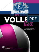 2018 Women's Volleyball Media Guide