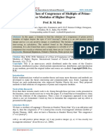 Solutions of a Class of Congruence of Multiple of Prime-Power Modulus of Higher Degree