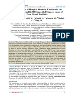 Quantification of Hospital Waste in Kinshasa in the Democratic Republic Of Congo (Rd.Congo)