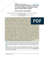 Effect of Collaborative Instructional Strategy on Male and Female Students' Interest Ratings in Secondary School Chemistry in Benue State, Nigeria